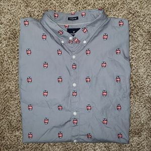 """AEO Seriously Soft """"Crushin It"""" Button Down Tee"""